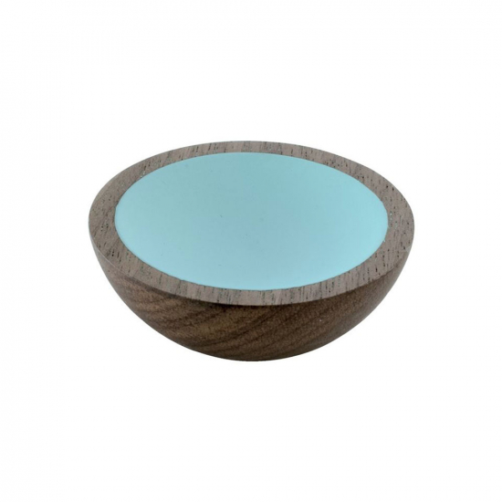 Cabinet Knob Wok - Wulnut/Turquoise in the group Cabinet Knobs / Color/Material / Wood at BeslagOnline (25504-11)