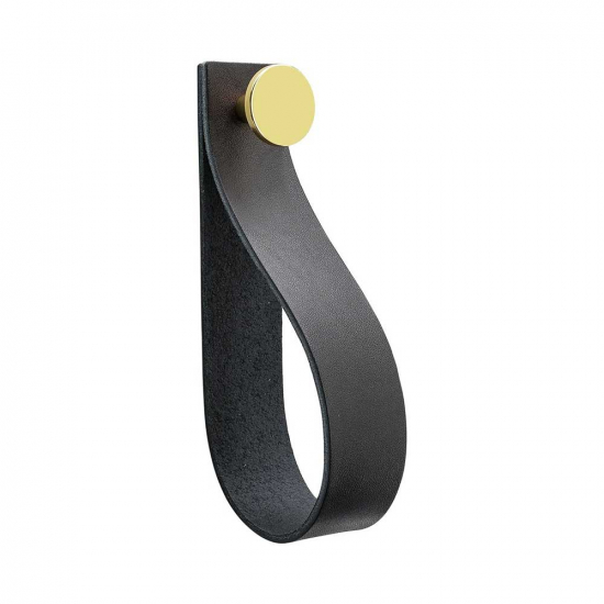 Loop Strap - Black Leather/Brass in the group Hooks / Color/Material / Leather at BeslagOnline (333301-11)