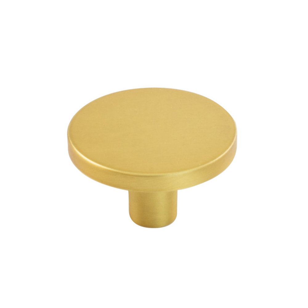 Cabinet Knob Como Big - Brushed Brass in the group Cabinet Knobs / Color/Material / Brass at BeslagOnline (343213-11)