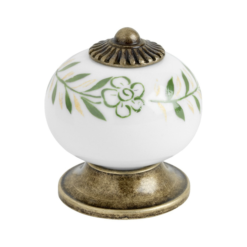 Cabinet Knob 8131 - Green/Antique in the group Cabinet Knobs / Color/Material / Antique at BeslagOnline (4892-11)