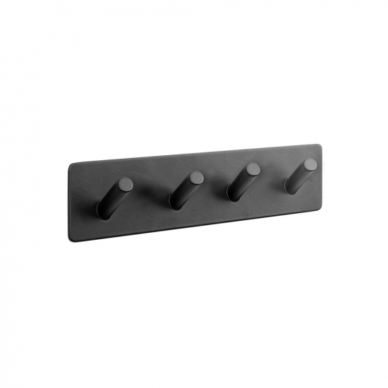 Base 200 4-Hook - Matte Black in the group Products / Bathroom Accessories / Self Adhesive Hooks  at BeslagOnline (605224-21)