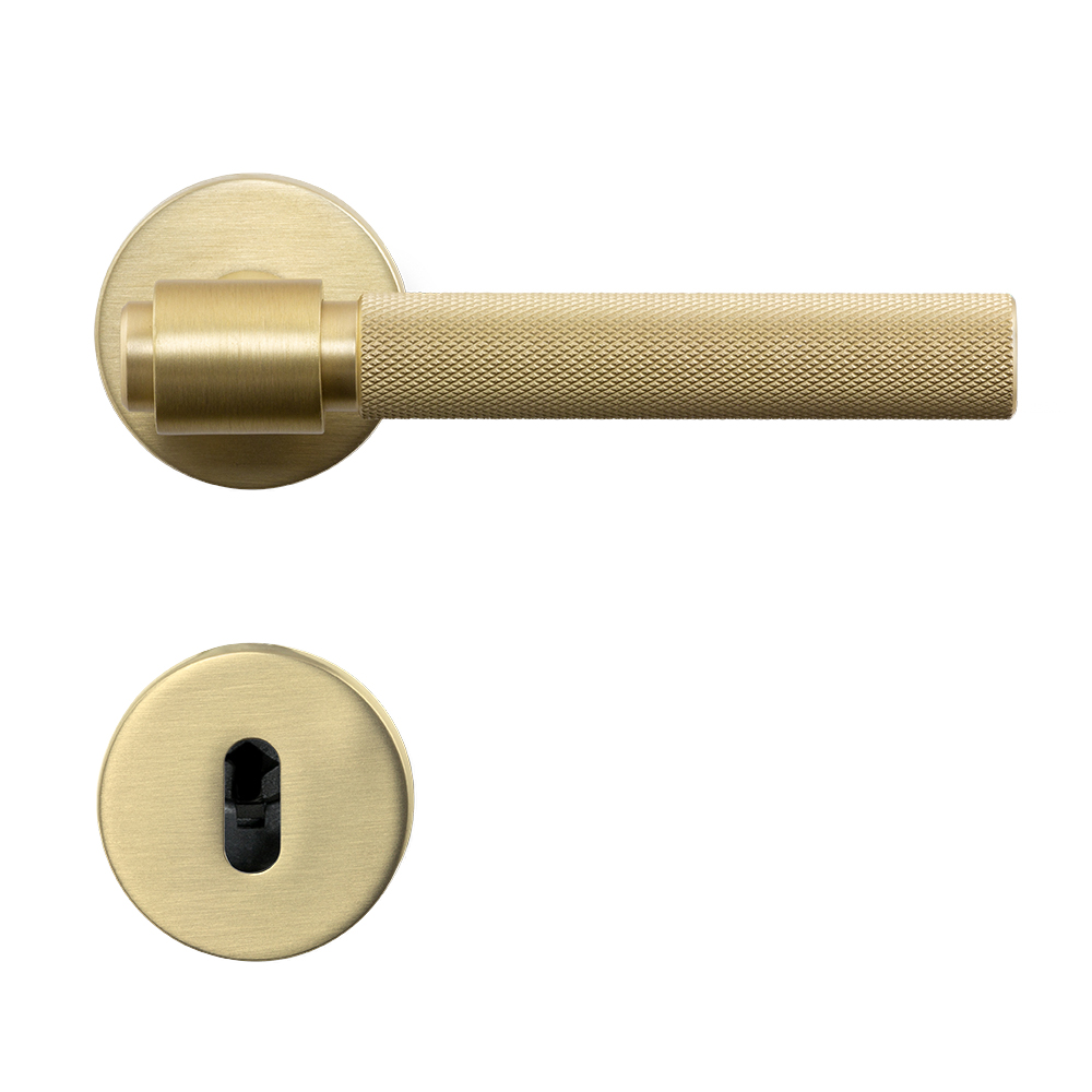 Door Handle Helix 200 - Brushed Brass in the group Products / Door handles / Internal Door Handles at BeslagOnline (751012-41E)