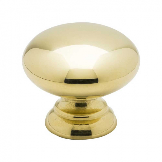 Cabinet Knob 411 - Polished Brass in the group Products / Cabinet Knobs / Brass at BeslagOnline (knopp-411-pol.massing)