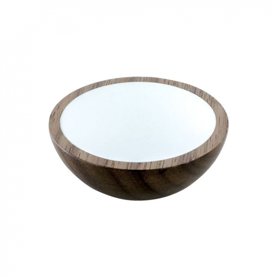 Cabinet Knob Wok - Wulnut/White in the group Products / Cabinet Knobs / Wood at BeslagOnline (knopp-wok-valnott-vit)